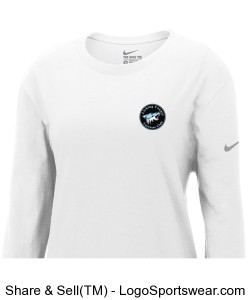 Nike Core Cotton Long Sleeve Ladies Tee Design Zoom