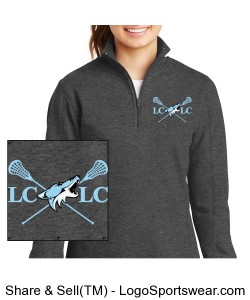 Ladies 1/4 Zip Sweatshirt Design Zoom