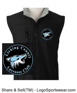 Mens Wind and Water Resistant Soft Shell Vest Design Zoom
