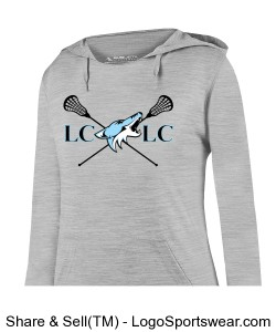 Ladies Shadow Tonal Heather Hoody Design Zoom