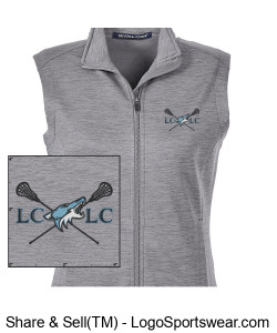Ladies Newbury Mélange Fleece Vest Design Zoom